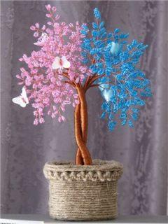 Дерево любви инь янь из бисера