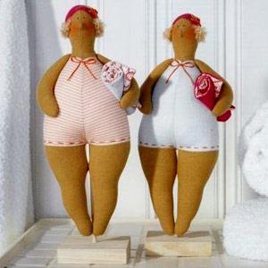 Пляжная кукла Тильда