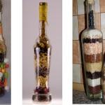 Нарядная бутылка для кухни