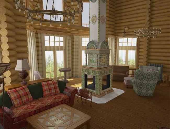 Интерьер дизайн загородного дома фото
