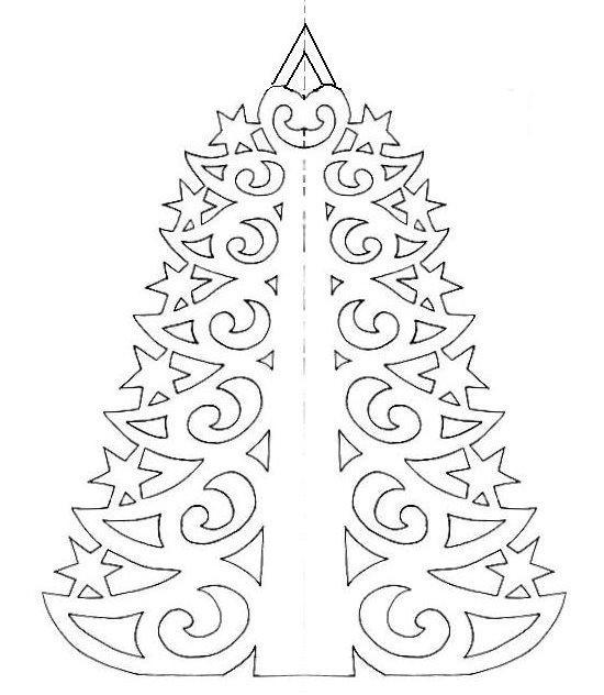 Елочные украшения из цветной бумаги на новый год схемы