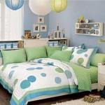 Комната в сине-зелёных тонах