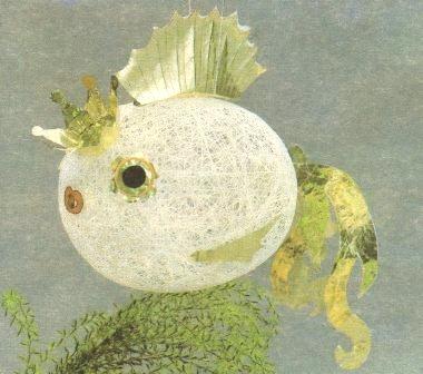 Рыба из ниток
