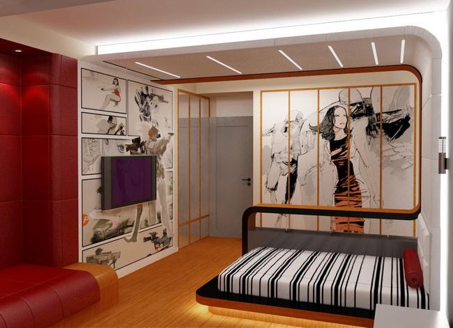 Интерьер сделанный для комнаты подростка
