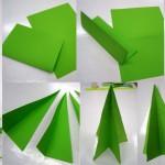Елка из бумаги и картона