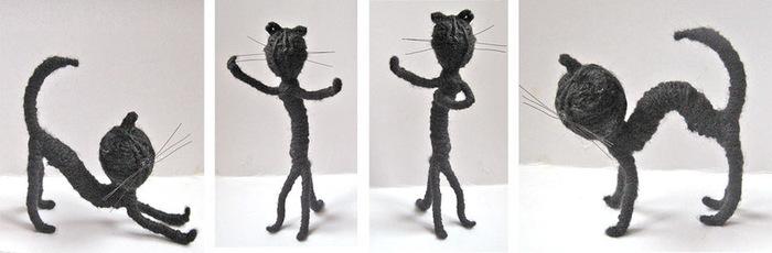 Кот из проволоки своими руками 28