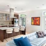 Вариант оформления совмещенной кухни и гостиной