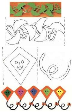 Красивые гирлянды из бумаги схемы