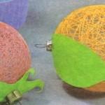 Елочные шары из ниток