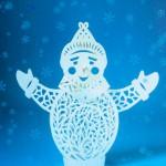 Прорезной снеговик