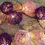 Шары из ниток с лампочками