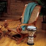 Плетеная мебель из пальмовой коры, абаки или ротанга