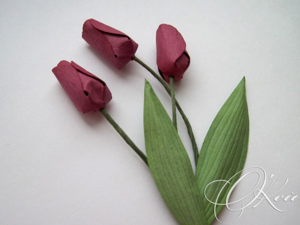 Хрупкие тюльпаны из бумаги