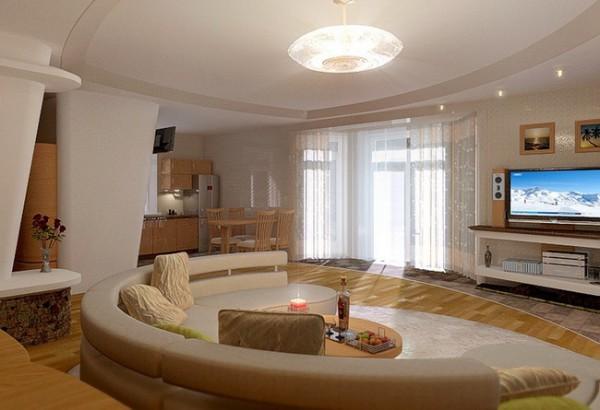Дизайн зала в доме