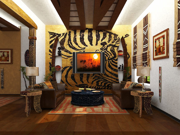 В комнате только Африка