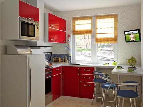 Красивый маленький дизайн кухни