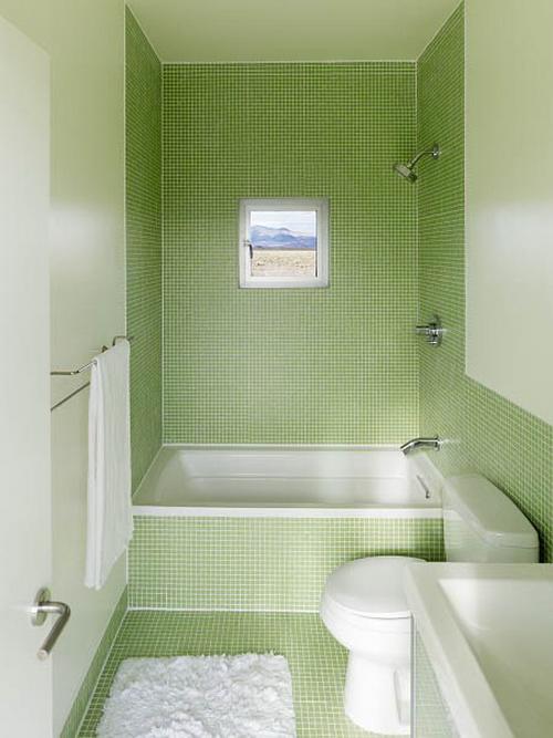 Вариант третий. Узкая ванная комната
