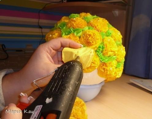 Как сделать букет из искусственных цветов своими