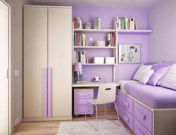 Мебель и освещение для девичьей комнаты
