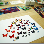 Картина из бабочек