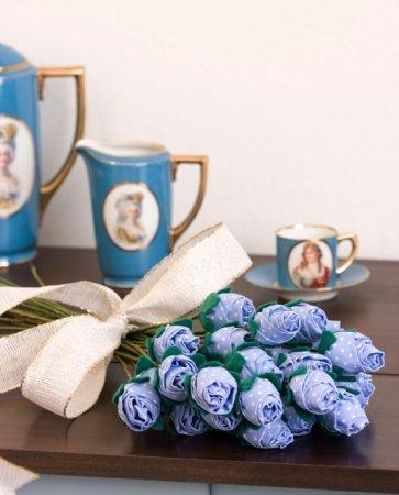 как сделать розу из ткани своими руками инструкция - фото 4
