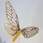 Бабочка из органзы
