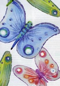 Бабочка из капрона