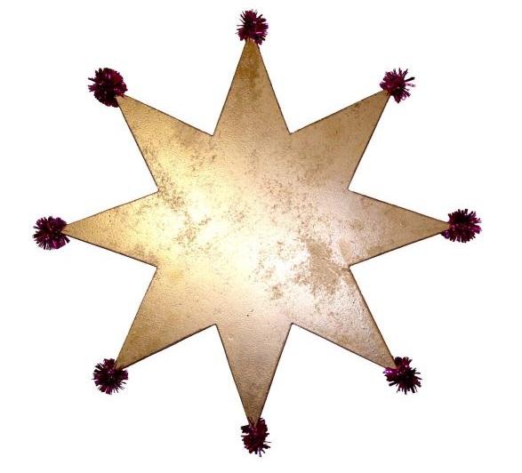 Звезда своими руками - бумажное украшение к празднику и не только