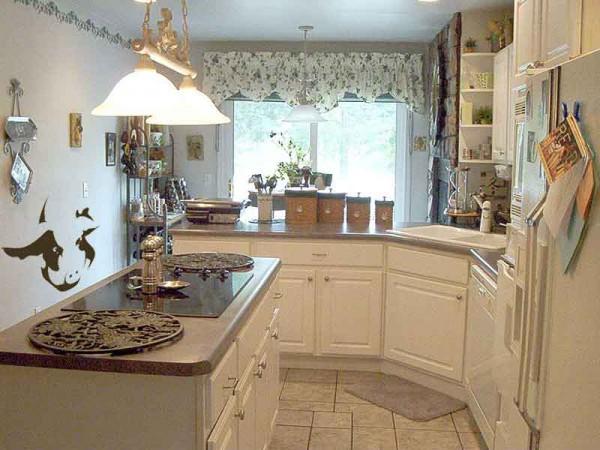 На кухне используйте высоту стен