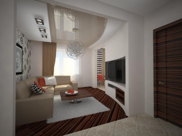 Вариант оформления двух- или трехкомнатной квартиры в панельном доме