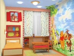 Яркие акценты для детской комнаты