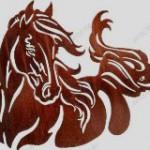 Вариант росписи по трафарету