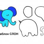 Выкройка для мобиля - слон