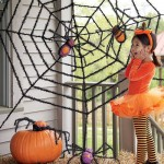 Паук на паутине на Хэллоуин