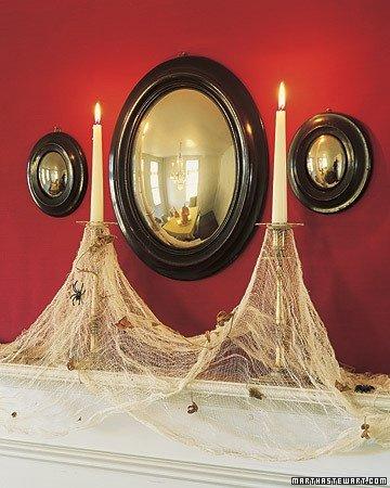 Как сделать паутину из марли