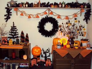 Украшение стола на Хэллоуин
