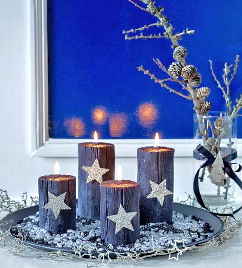 Украшаем дом свечами