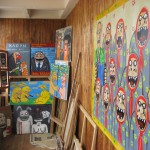 Картинная галерея на балконе