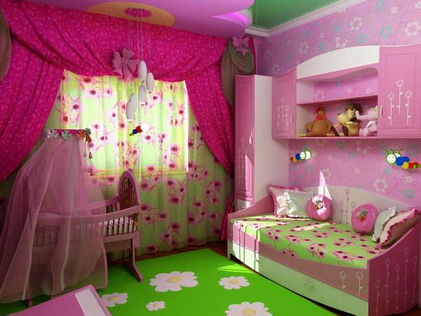Разнообразные цвета в комнате