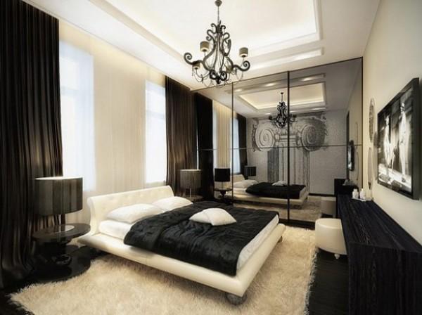 Стильная чёрно-белая комната