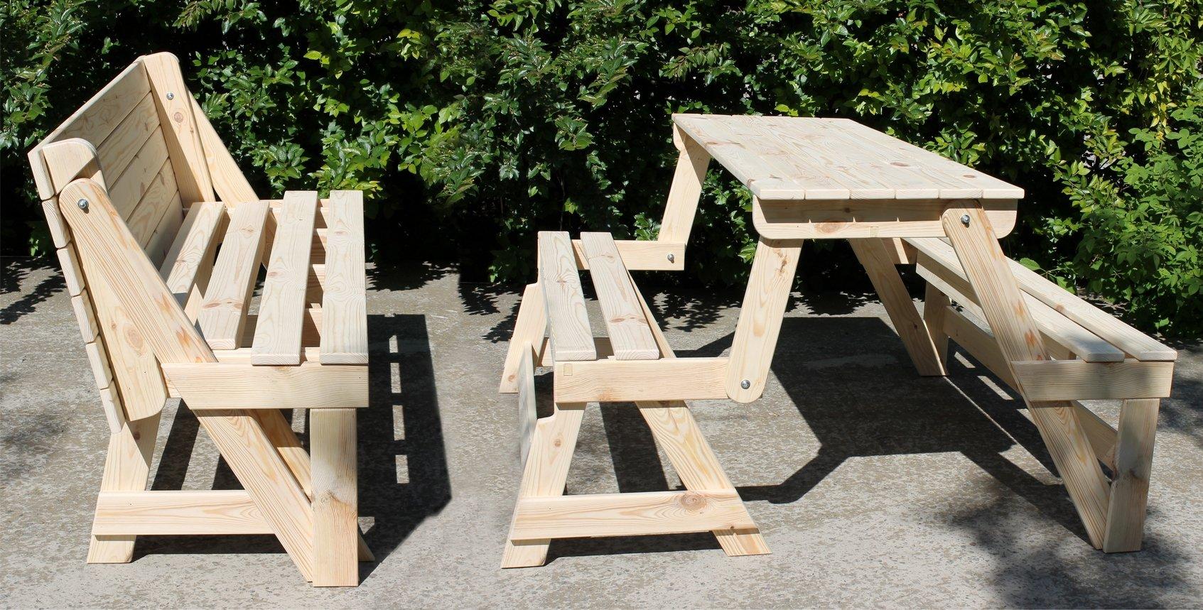 Сделать стол и скамейки фото