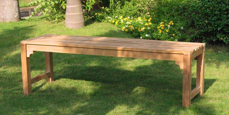 Скамейки из дерева без спинки